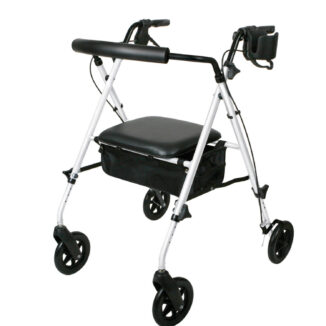 MEDLINE LUXE ROLLATOR angle view