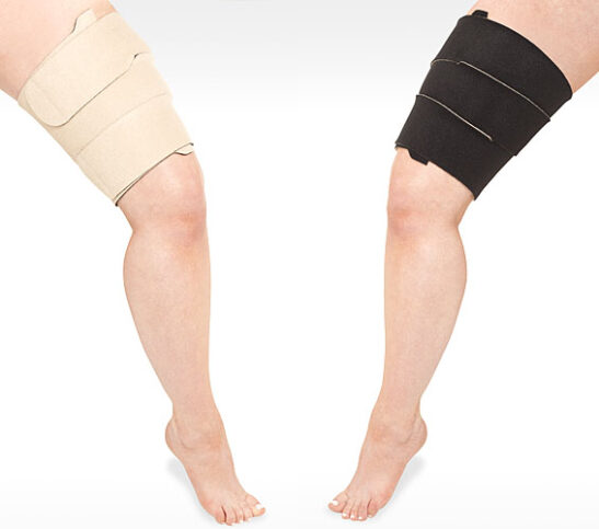 JUZO THIGH WRAP black and white colors